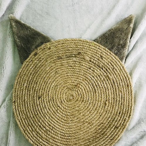 Grey Cat Ears Horizontal Cat Scratching Pad