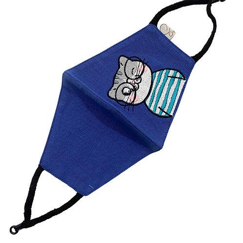 Cotton Masks 3 Ply Reversible Blue, Pink , White