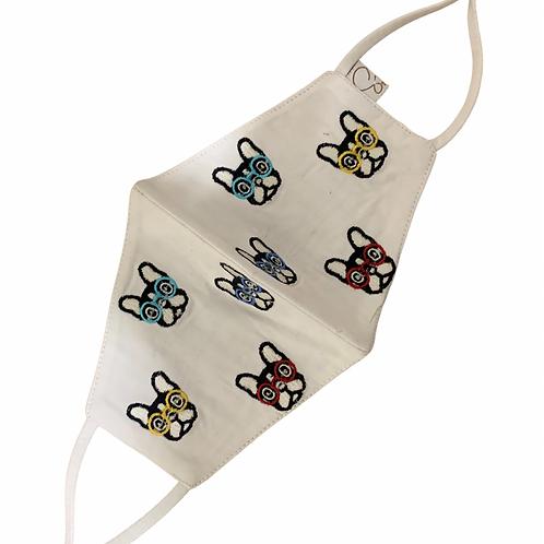 Cotton Masks 3 Ply Reversible White & Multicolour