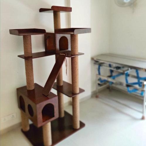 No-fur Marshmellow Cat Tower Condo Scratcher