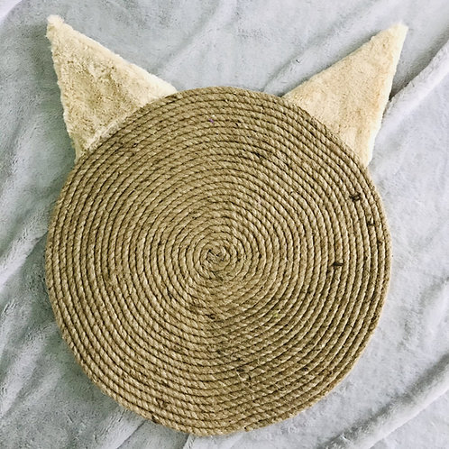 Beige Cat Ears Horizontal Scratching Pad