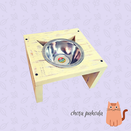 Single Raised Feeder for cats and dogs