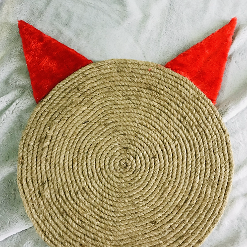 Red Cat Ears Horizontal Scratching Pad