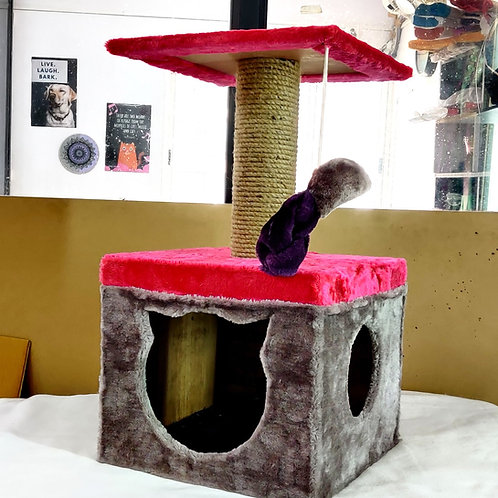 Large Mini Cat Tower Condo Scratcher for adult cats