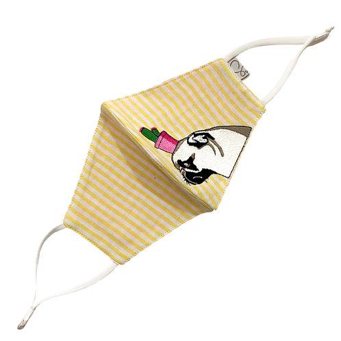 Cotton Masks 3 Ply Reversible Yellow, Pink & White