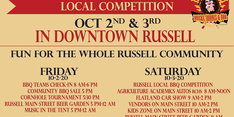 Bricks, Broncs, & BBQ Hosted by Brew Me & Russell Main Street