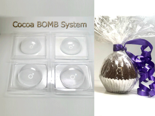 "Hot Cocoa Bomb Mold system 4-piece Sphere - 2.5"" and 3"""