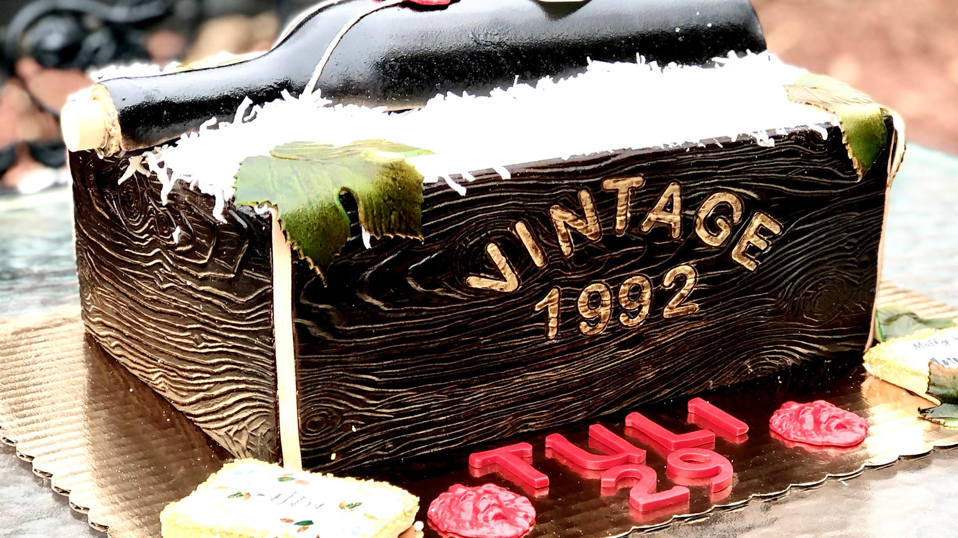 Wine case cake