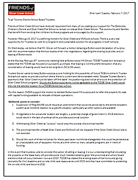 FofSC Letter to TDSB Trustees