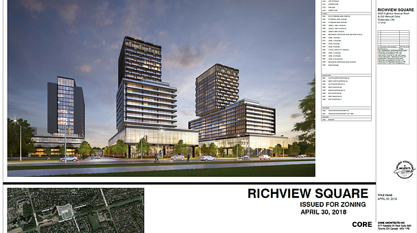 Proposed Design for Redevelopment of Richview Square