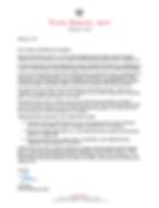 MPP Yvan Baker Letter of Support