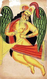Peri, 1875 Kalighat painting.