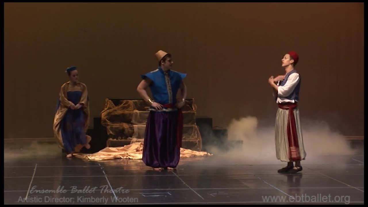 A scene from  'Aladdin' presented by Ensemble Ballet Theatre