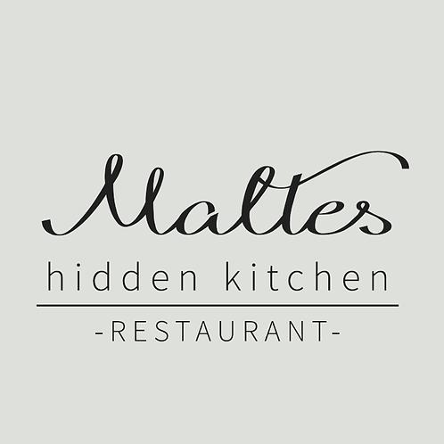 """Gutschein Maltes """"hidden kitchen"""""""