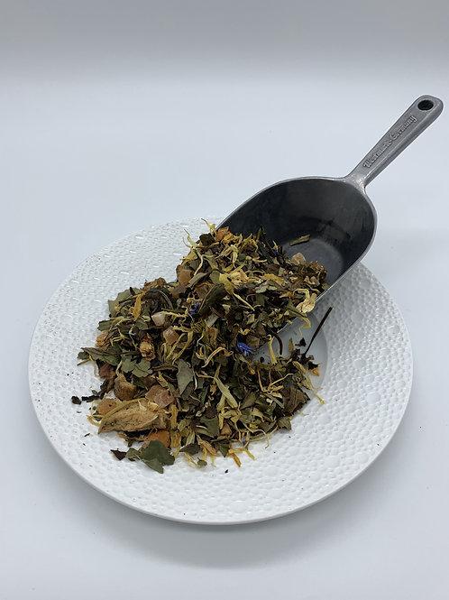 Weißer Mulberry Tee