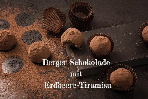 Berger Schokolade - Vollmilch Erdbeer-Tiramisu gefüllt