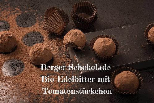 Berger Schokolade - Bio Edelbitter mit Tomatenstückchen