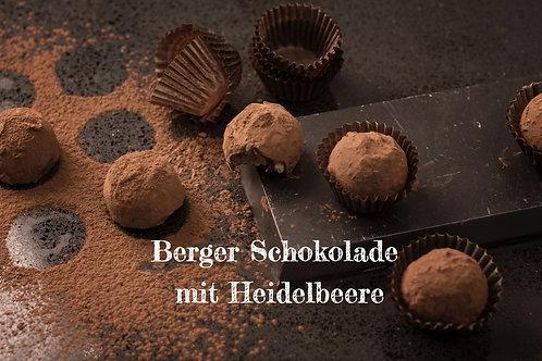 Berger Schokolade - Bio Vollmilchschokolade mit Heidelbeere gefüllt