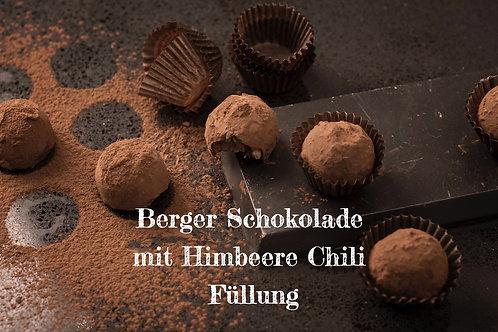 Berger Schokolade - Edelbitter Himbeere Chili gefüllt