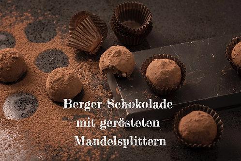 Berger Schokolade - Bio Vollmilchschokolade mit gerösteten Mandelsplittern