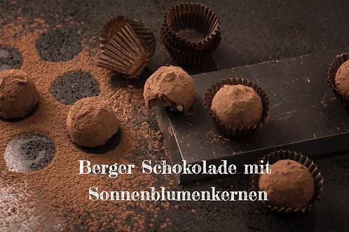 Berger Schokolade - Bio Vollmilchschokolade mit Sonnenblumenkernen