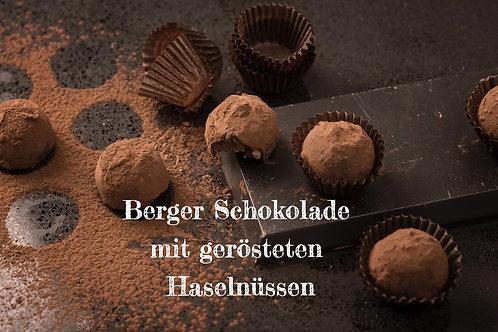 Berger Schokolade - Bio Vollmilchschokolade mit gerösteten Haselnüssen
