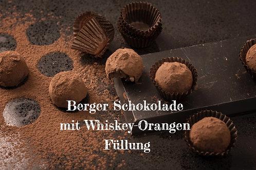 Berger Schokolade - Edelbitter Whiskey-Orange gefüllt