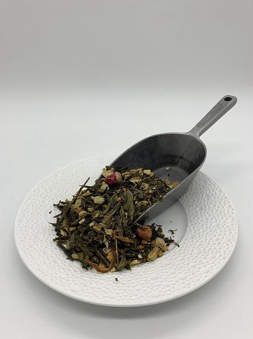 Grüner Tee mit Bambus