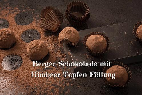 Berger Schokolade - Edelbitter Himbeer Topfen gefüllt