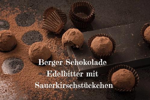 Berger Schokolade - Edelbitter mit Sauerkirschstückchen