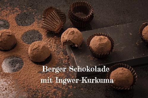 Berger Schokolade - Bio Vollmilchschokolade mit Ingwer-Kurkuma gefüllt