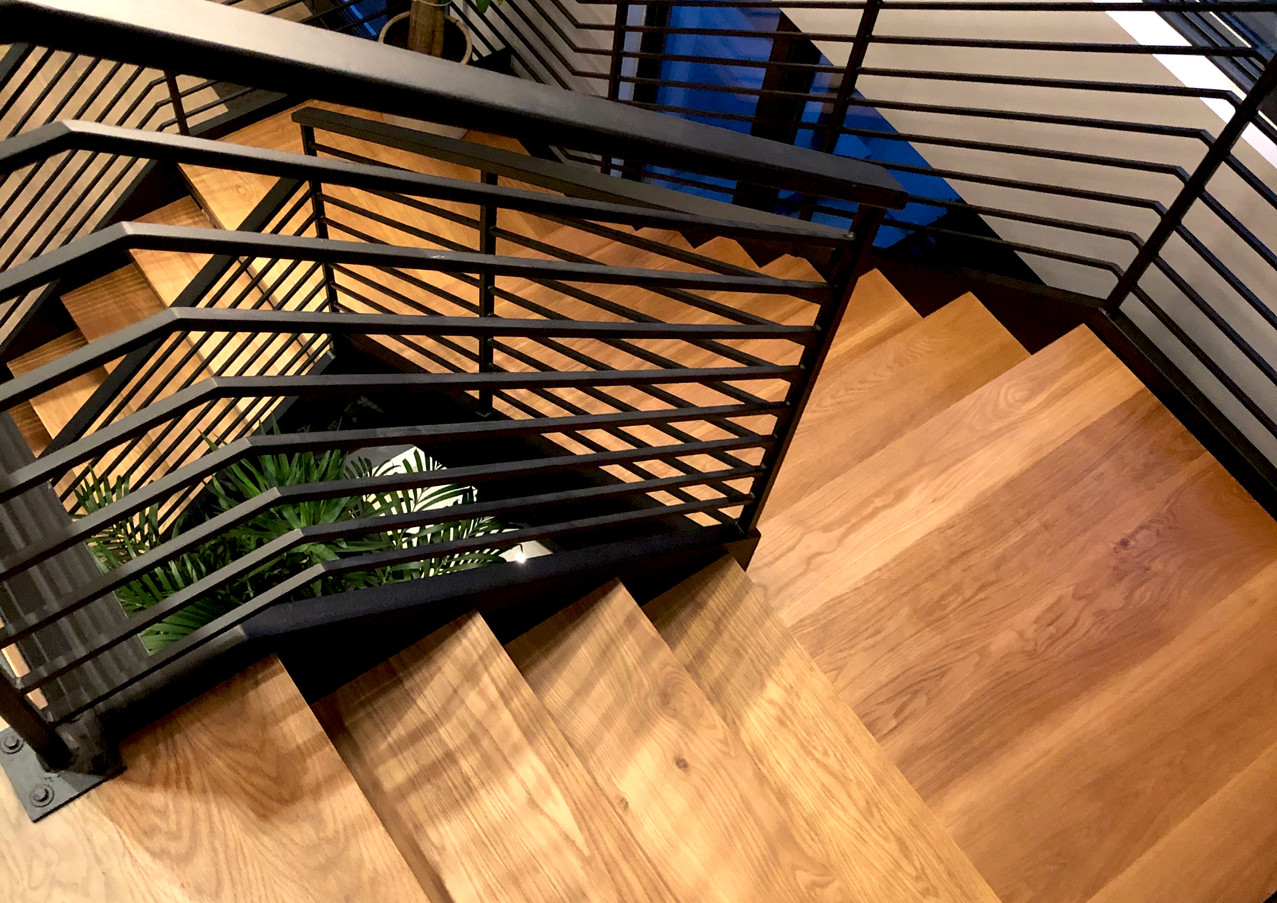 Franklin Lakes metal oak Staircase.jpg
