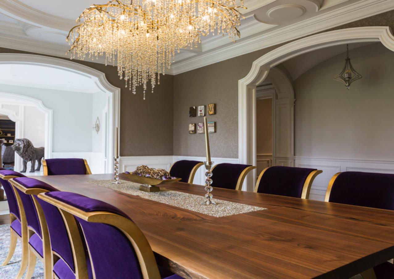 Dining room Purple Chairs