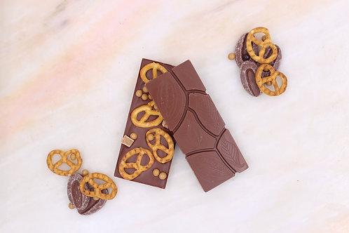 MILK CHOCOLATE PRETZEL BARS