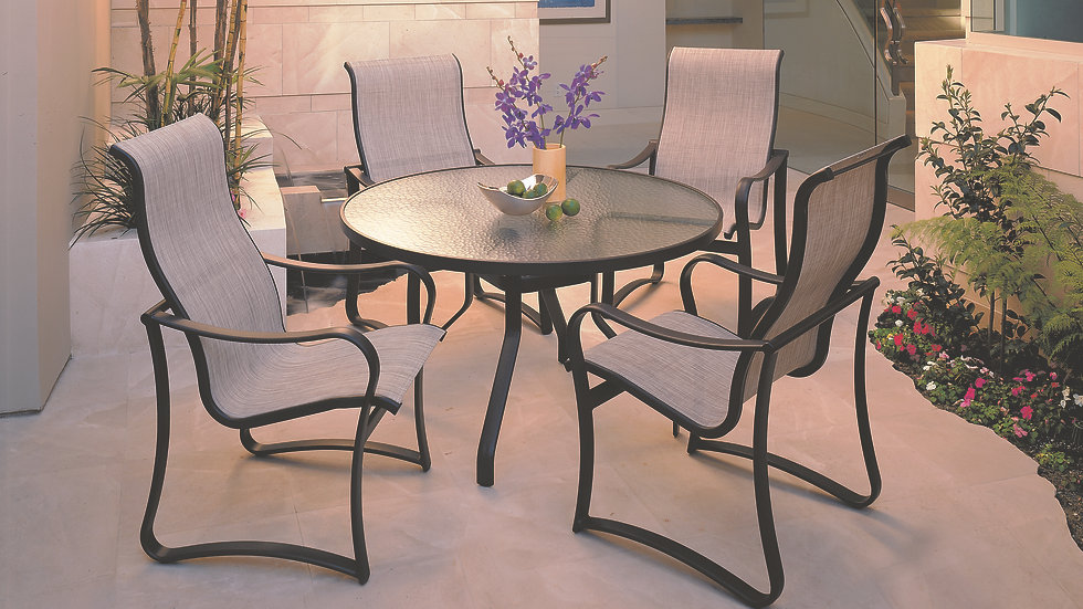 Shoreline Sling Outdoor Dining Collection
