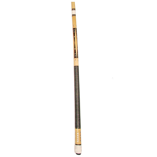 "57"" 2-Piece Maple Cue, Silver and Red"