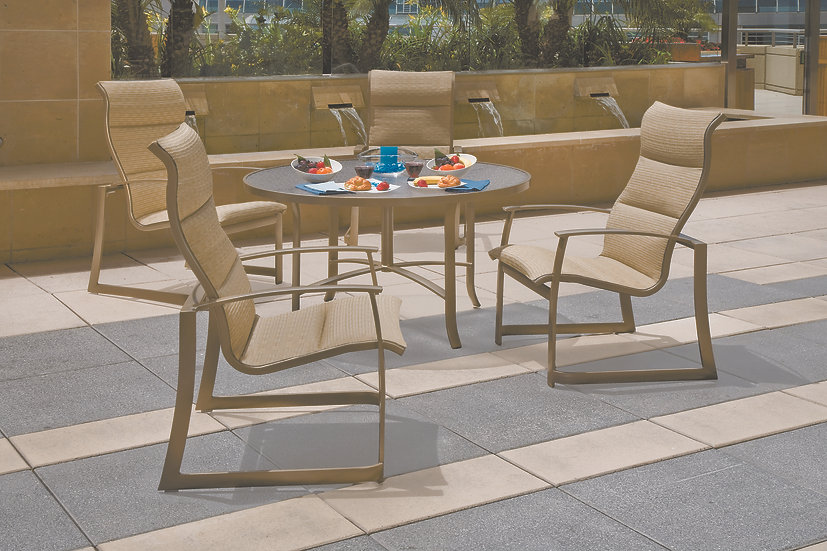 MainSail Padded Sling Outdoor Dining Collection