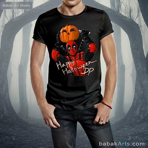 Happy Halloween Pal,  Pumpkin T-Shirts, Halloween costume, Deadpool in Halloween