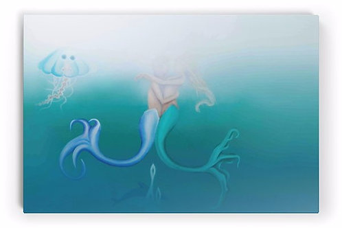 The Couple Mermaids (Limited Edition on Canvas Art Print)