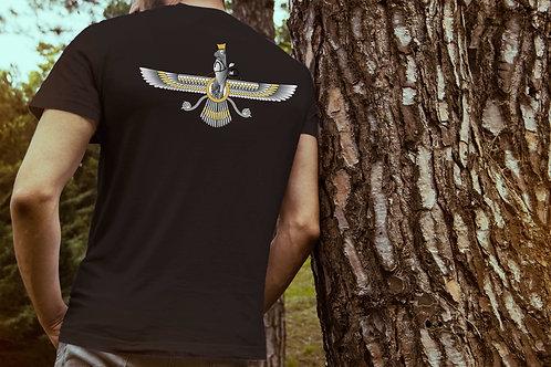 Golden Faravahar - Classic Round Neck T-shirt