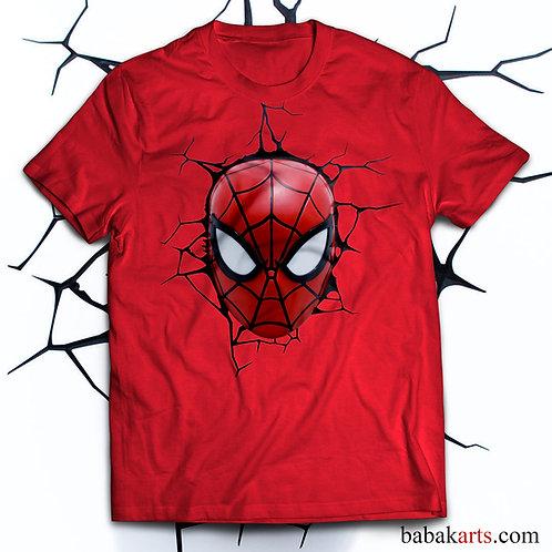 Spiderman T-shirt, Spiderman face Tee Shirt/ Comics t shirt