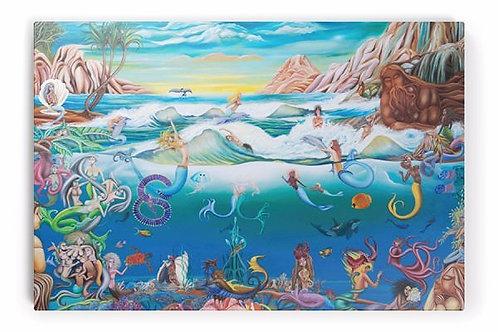 Mermaids in Wonderland (Limited Edition on Canvas Art Print)
