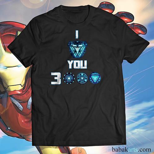 I Love You 3000 Iron Man T-Shirt - Iron Man Marvel shirts