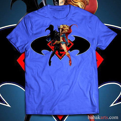 Supergirl vs Batgirl T-Shirt - Batgirl and Supergirl comics shirts