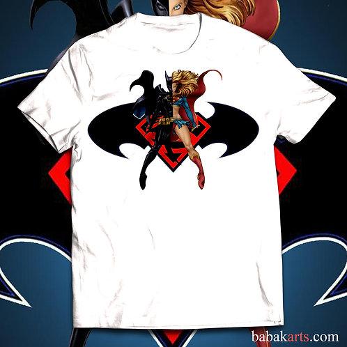 Batgirl vs Supergirl T-Shirt - Batgirl and Supergirl comics shirts
