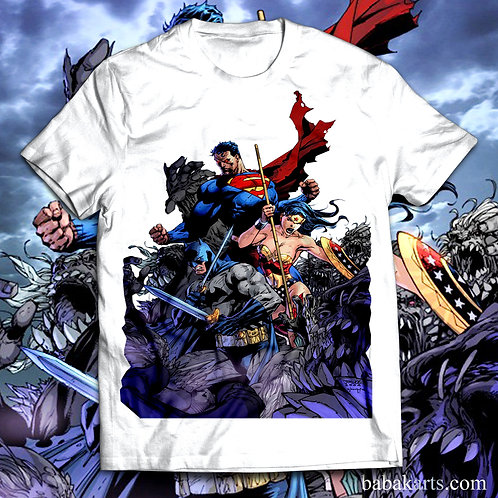Superman Batman Wonder Women T-Shirt, Superheroes Tee Shirt