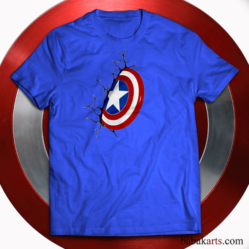 Captain America logo T-shirt, Captain America Shirts - Marvel Comics t shirt