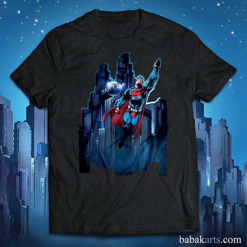 Superman fly T-Shirt - Superman comics shirts