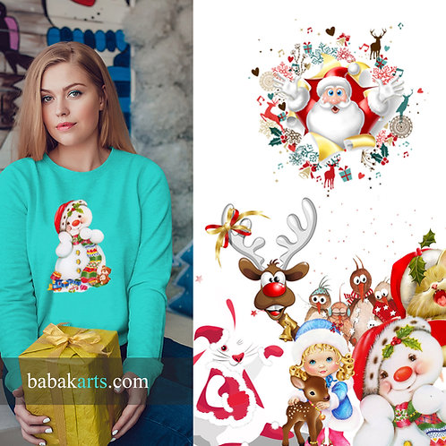 copy of Christmas Sweatshirt, Lady's Sweatshirt - All Christmas Characters