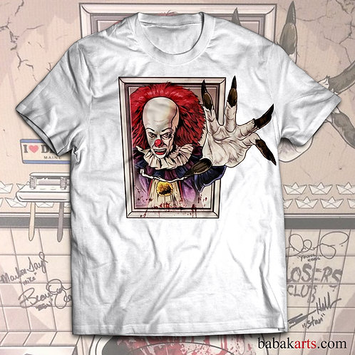 Halloween T-Shirt, Pennywise Scary Clown Tee, IT Shirt